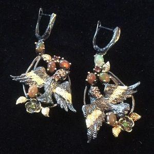 A Work Of Art Genuine Opal Earrings One Of A Kind